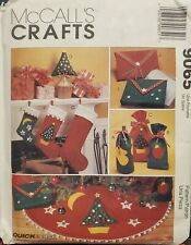 McCall's Crafts Quick & Easy pattern 9065 Christmas Decorations, Stockings uncut