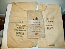 3 Vintage Bank Deposit Bags