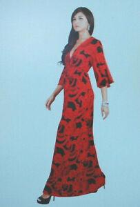 Koh Koh Womens Elegant Cocktail Long Kimono Sleeve Maxi Dress #NT188  S9060