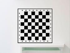 Chessboard Wall Decal Checkerboard Chess Vinyl Sticker Art Decor Mural (129ex)