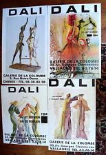 4 Affiches par Salvador DALI -GALERIE DE LA COLOMBE
