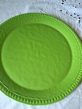 "Pottery Barn Outdoor Indoor Large Summer Green Serving Platter 15"" Diam. New"