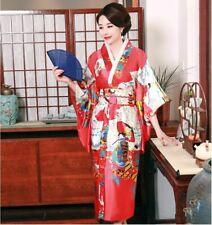 Japanese Oriental Elegant Spring Blossom Red Kimono Costume One Size kimono10