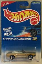 Hot Wheels 65 Mustang Convertible Sp5's #455 Mtfk Gold Malaysia 1996 New Pkg