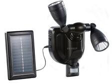 3W Cree Twin Solar Security PIR Motion Sensor Light Smart Outdoor Garden Lamp