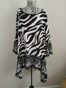 Maggie T Gorgeous Boho Inspired Top Size 1 Fit 14/16