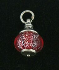 RETIRED James Avery Red Christmas Ornament Sterling Silver Charm
