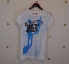 Volcom Girls T Shirt Lg/14 White Teen-Ager Disease DR3