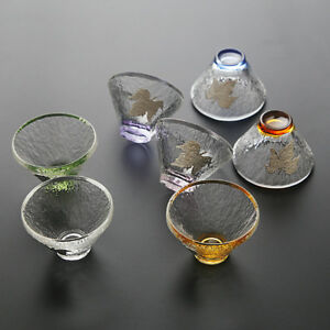 colorful tea cup Chinese glass tea cups leaf relief 50ml thicker China cup tea