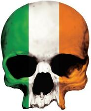 SKULL IRELAND FLAG BUMPER STICKER CAR STICKER   LAPTOP STICKER TOOLBOX STICKER