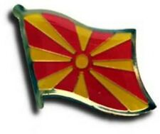 Macedonia Country Flag Bike Motorcycle Hat Cap lapel Pin