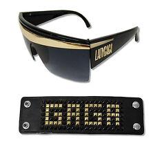 Lady Gaga 2 Piece Set Sunglasses Shades & Studded Faux Leather Wristband New