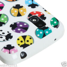 LG Nexus 4 Google Phone E960 CANDY SKIN TPU GEL COVER CASE COLORFUL BEETLES
