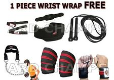Power Lifting set skip rope dipping belt knee hand wraps bar straps head harness