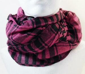 Shemagh ROSE RED PINK & BLACK Scarf Use as a belt Fashion statement Bag
