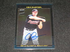 COLE BARTHEL BRAVES SIGNED AUTOGRAPHED PACK PULLED CERTIFIED BASEBALL CARD