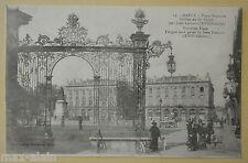 """CPA """" NANCY - Place Stanislas - Grilles en fer forgé"""