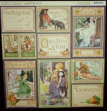 Graphic 45 An Eerie Tale You Bewitch Me  12 x 12 Scrapbook Paper -2 Sheets