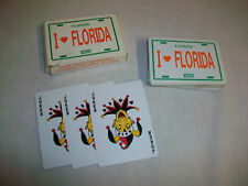 I Love Florida License Plate Deck Playing Cards Complet