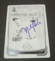 2012 Bowman Black Printing Plate David Price Rays Authentic Signed Auto 1 of 1