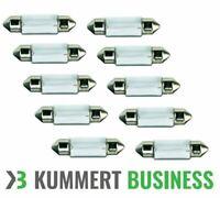 10 STÜCK C5W 5W 12V 36mm Soffitte Sofitte Lampe Kennzeichen Birne 10x Innenraum