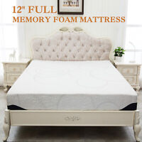"12"" Inch Full Size COOL & GEL Memory Foam Mattress Pad Bed Medium Firm Bedroom"
