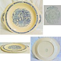 Universal Cambridge Camwood Ivory Colonial Kitchen Woman Baking Design Tab Plate