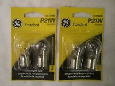 GE P21W Back-Up Brake Parking Tail Side Marker Light Automotive Bulb 2 Pair NEW