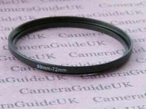 69mm to 72mm Male-Female Stepping Step Up Filter Ring Adapter 69mm-72mm