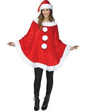Mrs Santa Claus Womens Adult Christmas Holiday Plush Costume Poncho