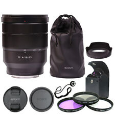 Sony Vario-Tessar FE 16-35mm f/4 ZA T * OSS Lente SEL1635Z + Kit de accesorios de lujo