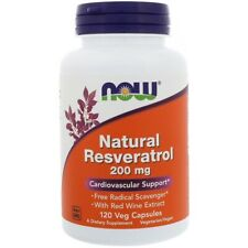 NOW FOODS - NATURAL RESVERATROL 200mg 120 Vcaps Cardiovascular Support
