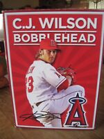 C.J. WILSON BOBBLE HEAD LOS ANGELES ANGELS OF ANAHEIM New In Box Promotion