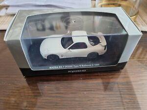 1/43 White Kyosho Mazda FD3 RX-7 Bathurst car model (boxed, new)