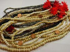 12 Assorted Water Buffalo Bone Mala Strands India Handmade Beads Bulk Lot (J-5)