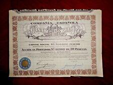 Minas del Rif,Share certificate 1946  Spain   VG