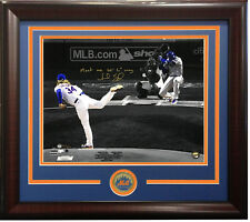 Noah Syndergaard signed meet me 60 ft 16x20 photo framed coin auto /100 Steiner