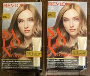 (2) Revlon Salon Color #7 Dark Blonde Color Booster Kit For Week 3 And 6