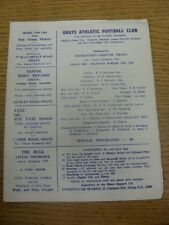 27/10/1969 Grays Athletic v Tilbury [East Anglian Cup] . Any faults are noted in