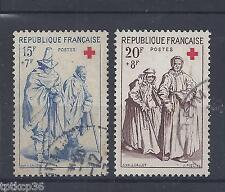 France - n° 1140 et 1141 oblitérés - Croix Rouge