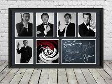 James Bond Signed Photo Print Poster Movie Memorabilia 007