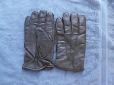 Gent Brown Leather Gloves Large