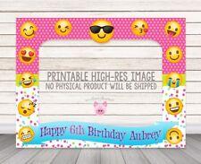 PRINTABLE DIGITAL DOWNLOAD Emoji photo booth frame, selfie frame DIY Emoji Party
