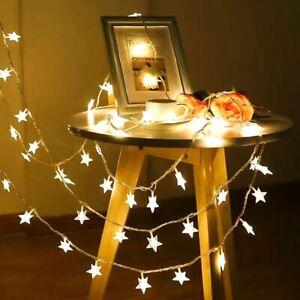 LED Star Lights Battery String Fairy Lights Wedding Party Garden Xmas Decor UK