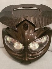 Motorbike Carbon Headlight with 4 halogens  Carbon look for sale brand new item