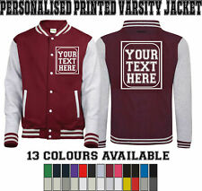 Personalised Printed Varsity Jacket, Baseball College Letterman Unisex Jacket