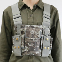 Chest Harness Bag Front Pack Pouch Holster Vest Rig For Two-Way RADIO