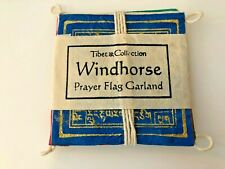 Tibetan Handmade in Nepal Windhorse Mini Room Prayer Flag Garland - New Sealed