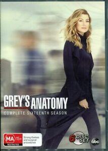 GREY'S ANATOMY Complete Season 16 (Sixteenth) DVD-BRAND NEW+SEALED REGION 4