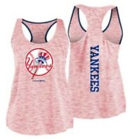 MLB New York NY Yankees Women's Space Dye Red Racerback Tank Top Plus Size 2X